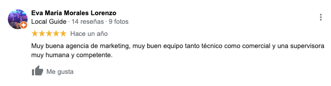 Opiniones de clientes en Google My Business